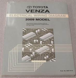 2009 Toyota Venza Electrical Wiring Diagram Service Manual