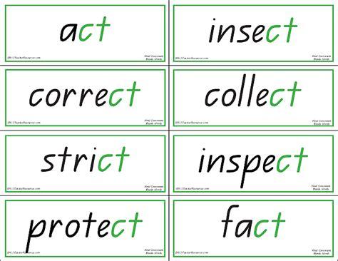 final consonant blends matching words