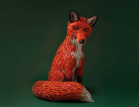 3d Animation Animals Wallpaper - animals fox artwork herm 232 s green background 3d