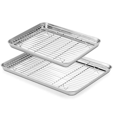 baking sheet rack sheets pans dishwasher rust non tray cookie stainless steel sets safe finish cooling clean toxic easy cleaning