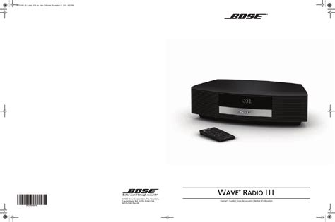 bose wave radio iii user manual 24 pages