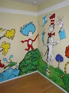 dr seuss nursery theme ideas plays room and wall decor With best from cat in the hat wall decal ideas