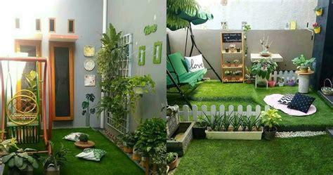 desain taman  rumah minimalis bikin makin kece
