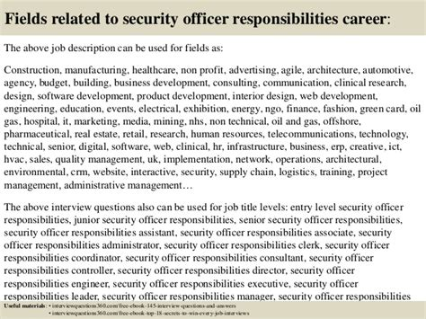 top  security officer responsibilities interview