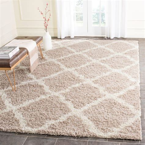 Rugs Dallas by Safavieh Dallas Shag Beige Ivory 10 Ft X 14 Ft Area Rug