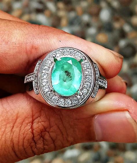 jual cincin zamrud asli emerald beryl natural zamrud colombia zamcol di lapak ori gemstone
