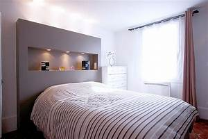 Dressing Derrière Tete De Lit : une t te de lit avec niche int gr e ~ Premium-room.com Idées de Décoration