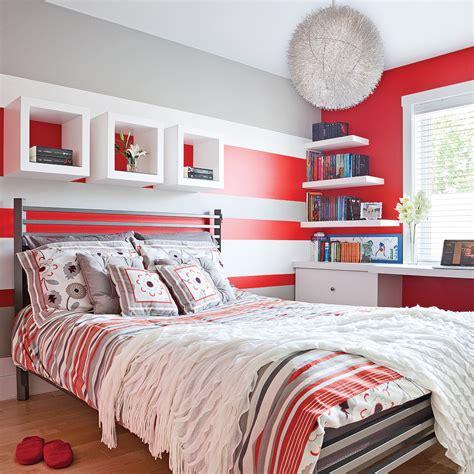 171 color zoning 187 en rouge gris et blanc chambre