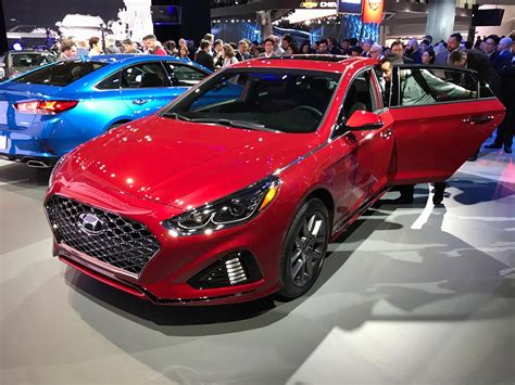 Car Show In New York by New Of The 2018 Hyundai Sonata At New York Auto