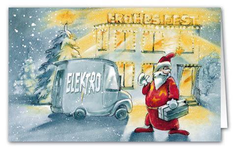 originelle weihnachtskarte branchenkarte fuer elektro