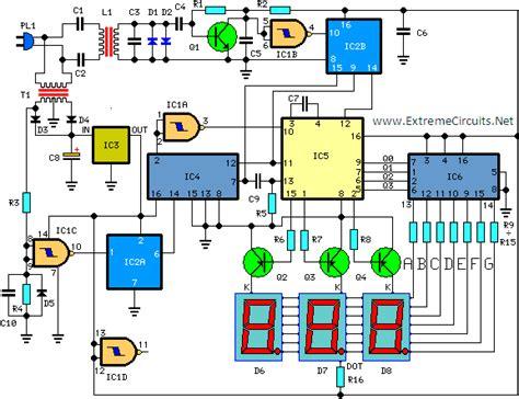 build digital remote thermometer circuit diagram