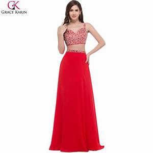 Grace karin two piece prom dresses robe de soiree long for Robe de soirée 2 pièces
