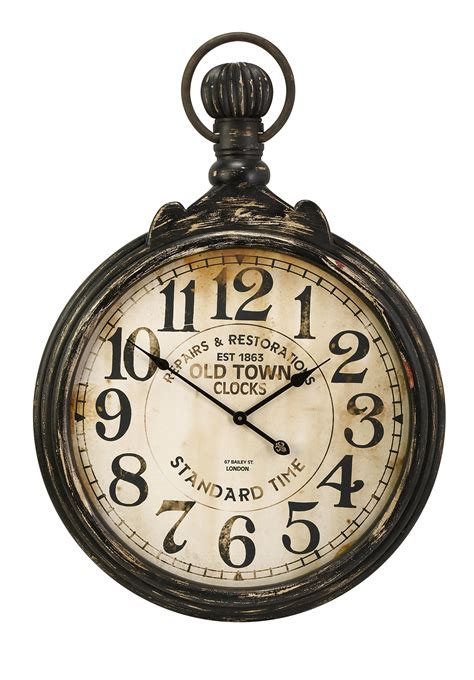 Antiqued Old Town Pocket Wall Clock