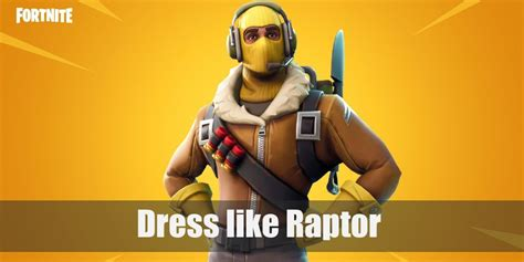 Dress Like Raptor (fortnite) Costume For Cosplay & Halloween