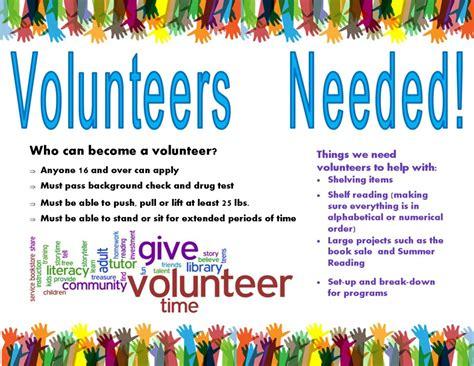 volunteers needed greenwood library