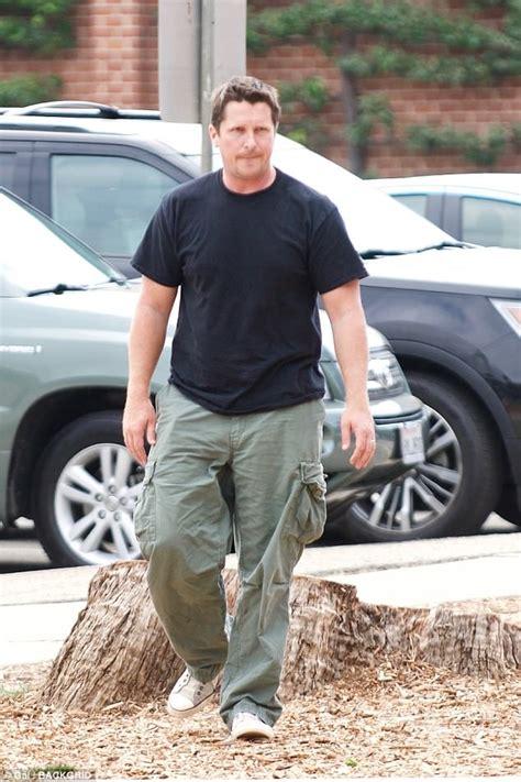 Bulked Christian Bale Takes His Son Joseph Park