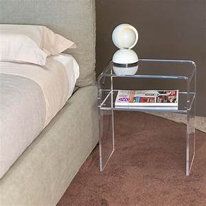 Table En Plexiglas : modern bedside tables acrylic clear perspex night stand 40x30 h 45 cm no kartell ebay ~ Teatrodelosmanantiales.com Idées de Décoration