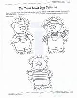 Pigs Coloring Three Pages Story sketch template