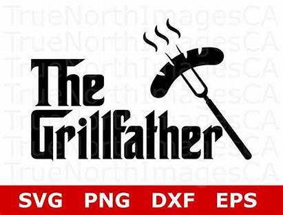 Svg Grill Grillfather Father Bbq Grilling Silhouette