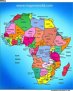 Africa Map Region Country | Map of World Region City