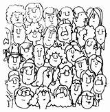 Coloring Crowd Supercoloring Community Credit Larger sketch template