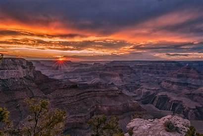 Canyon Grand Summer Sunset Solstice Landscape Landscapes