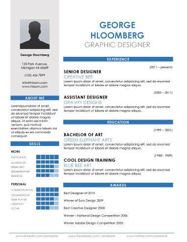 resume templates  word infographic