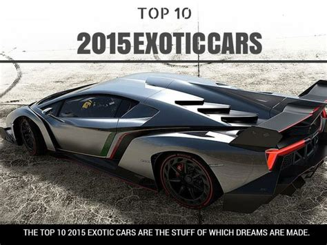 Top 10 2015 Exotic Cars Powerpoint Presentation