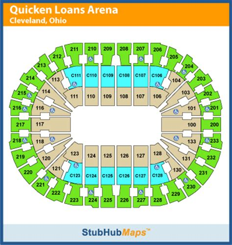 Cavs Lakers Floor Seats by Quicken Loans Arena Seating Chart Pictures Directions