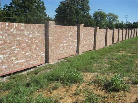brick and wood fence pictures brick wood fence 5746