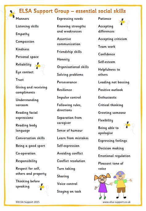 essential social skills elsa support