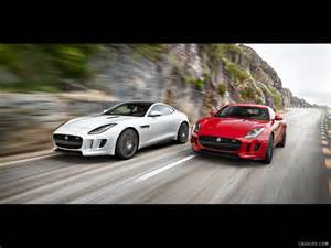jaguar j type 2015 2015 jaguar f type coupe and f type r coupe front hd