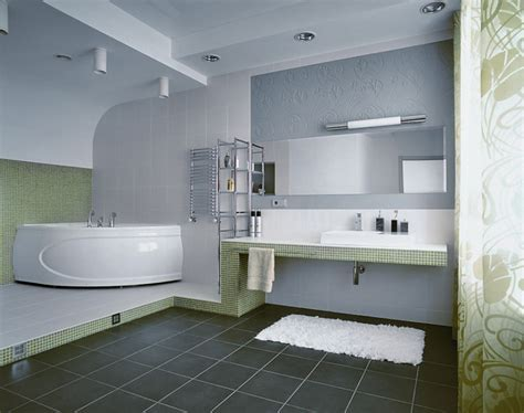 Bathroom Extraordinary White And Grey Bathroom Decoration