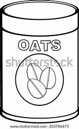 Oat Coloring Meal Oats Vector Pages Template Sketch sketch template
