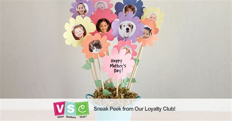 homemade paper flower picture bouquet  mothers day