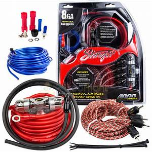 True 8 Gauge Awg 600 Watt Amplifier Wiring Kit Stinger