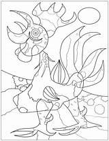 Miro Coloring Rooster Pages Joan Coq Le Adults Justcolor Pinturas Para Adult Cuadros Inspired Painting 1940 Paintings Arte Printable sketch template