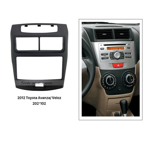 202 102mm din 2012 toyota avanza veloz car radio fascia installation frame surround panel