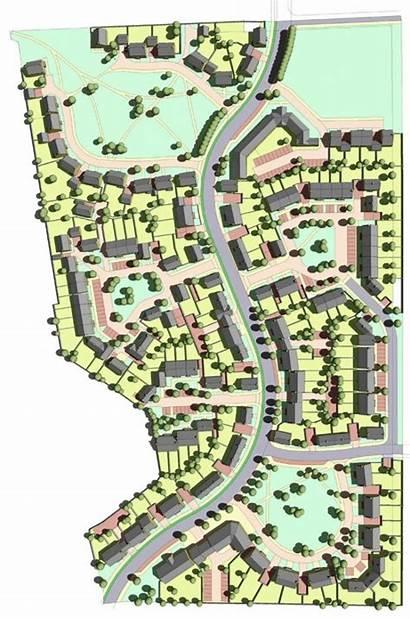 Housing Layout Plan Layouts Plans Town 3d