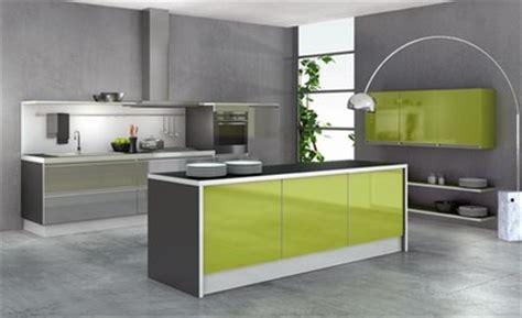 meuble cuisine vert anis meuble de cuisine vert et gris mobilier design