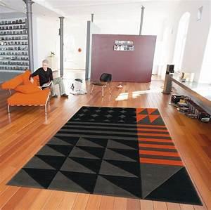 tapis orange et noir bureaux prestige With tapis orange et noir