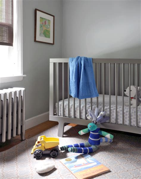 grey crib contemporary nursery ore studios