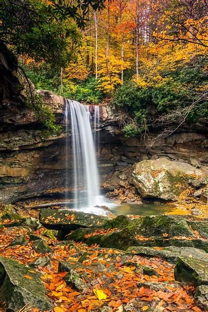 Fall Foliage Falls Laurel Highlands Cucumber Pennsylvania