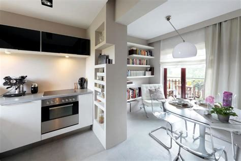 small kitchen decorating ideas for apartment open kitchen with transparent cantilever chairs at the