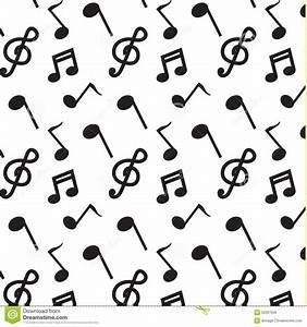Black Note Music Pattern Vector Stock Vector - Image: 52097026