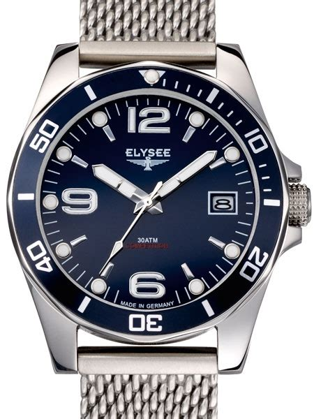 Blue Dive Watches - elysee 300m endurance 45mm quartz dive with blue