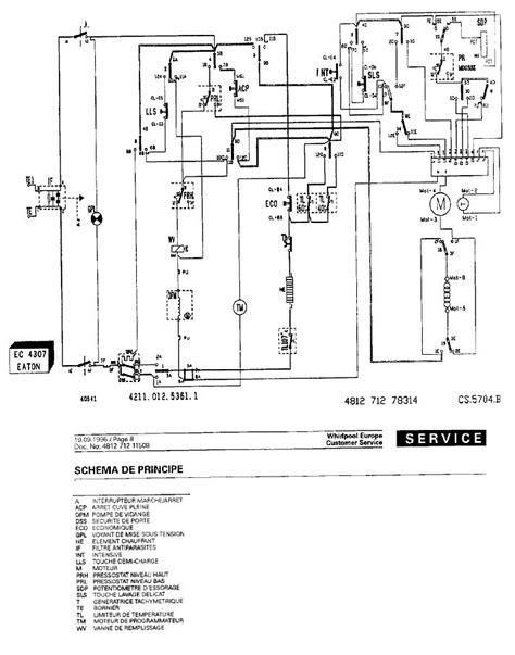 sch 233 ma 233 lectrique c 226 blage panne machine 224 laver whirlpool wawg692