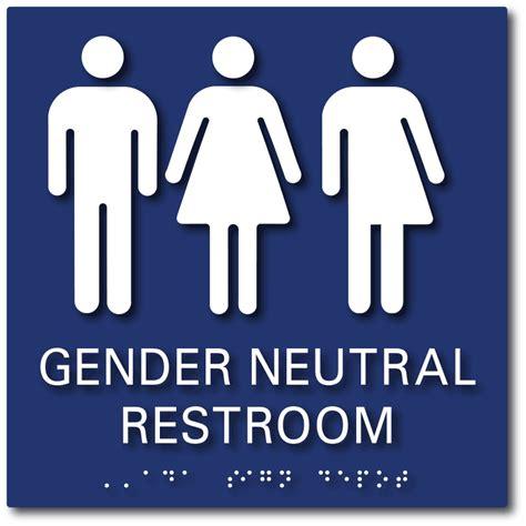 Gender Neutral Bathroom Signs With All Gender Symbols