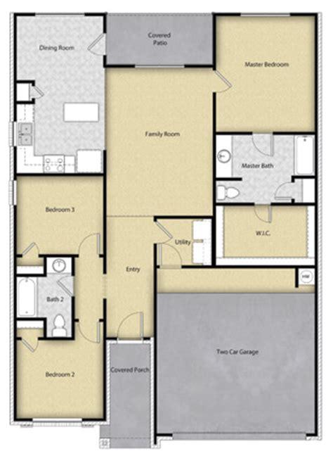 3 BR, 2 BA, 1 Story Floor Plan House Design for Sale