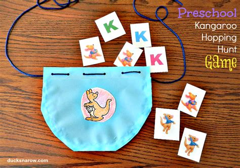 preschool game letter    kangaroo ducks   row